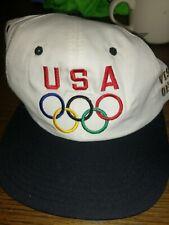 USA Olympics Proud Sponsor White Strapback Hat Cap Fundraiser Cap