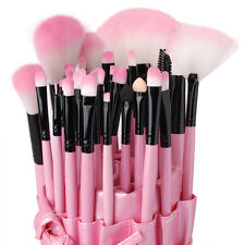NE Professional 32 Piece Kabuki Make Up Brush Set and Cosmetic Brushes Case Pink