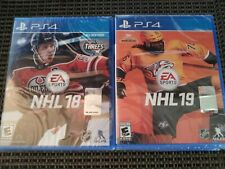 NHL 18 & 19 (PlayStation 4 PS4 Video Game Lot) NEW, Sealed