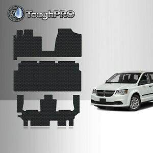 ToughPRO Floor Mats +3rd Row Black For Dodge Grand Caravan All Weather 2013-2020