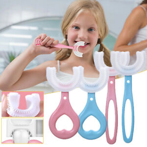 Kid U-Shape Toothbrush 360° Baby Oral Cleaning Soft Silicone Manual Brush Health