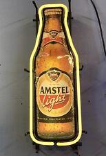 Amstel Light Neon Sign Beer Pub Bottle Design 1980's To 1990's