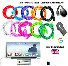 3M Micro USB Cable Data Sync Charger Lead Wire Charge FOR Chromecast TV 3 Metre