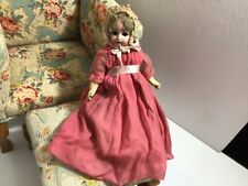 Antique Bisque Head Doll - Paper Mache Body - Needs TLC