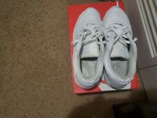 Nike Air Max 90 TRIPLE WHITE CN8490-100 Running Men's used Size 11.5 with box ..