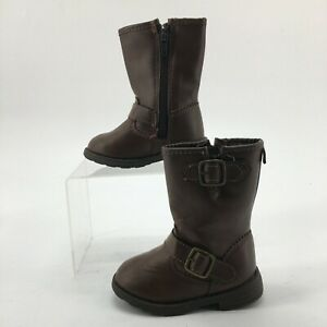 NWOT Carters Toddler 5 Aqion 3 Casual Mid Calf Boots Brown Faux Leather Buckle