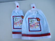 2 Hanging Kitchen Dish Towels With Crochet Tops Love Beyond Words