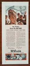 1940s Wilson Sporting Goods 1942 Army Soldier Art WW2 Sports Vintage Print Ad