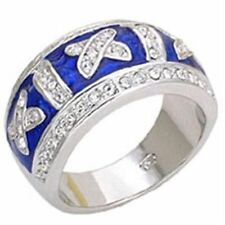 Unbranded Enamel Cubic Zirconia Cocktail Fashion Rings