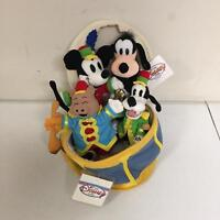 Disney Store Silly Symphonies Mickey Mouse Goofy The Band Concert Plush Set