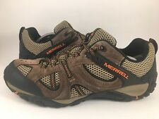 Merrell Stone Low Hiking-Trail Shoes Men's  11.5 Brown Leather & Mesh Lace-Up