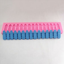 New Picket Fence Silicone Fondant Cake Decorating Soap Chocolate Baking Mold