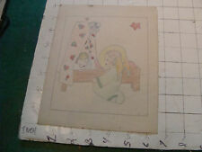 original MEIJER art: 1935 ANGLE and BABY card with more art on it