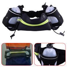 Cycling Jogging Running Belt Waist  Bag 2 Water Bottle Mobil Phone Holder Pouch