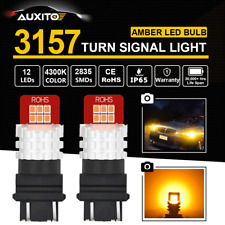 NEW 12-SMD T25 3157 3156 4157 Amber Yellow 4300K LED Bulb Turn Signal Light 2PCS