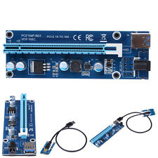 Mini PCI-E Extender DC 12V to PCI-E 16X Card Adapter with USB 3.0 Power Cable
