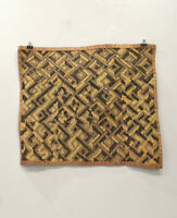 Kuba Cloth African Natural Woven Raffia Zaire Fabric Kuba Cloth