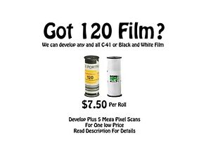 120 / 220 / 620 Film Developing for C-41 and Black & White Film