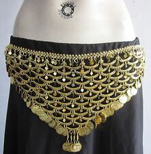 Gold Coin Fringe Metal Belt Belly Dance wear Dancing Egyptian Costume Jewelry