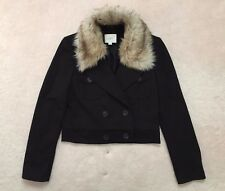 ANN TAYLOR LOFT Black Double Breasted Cropped Jacket - size Small