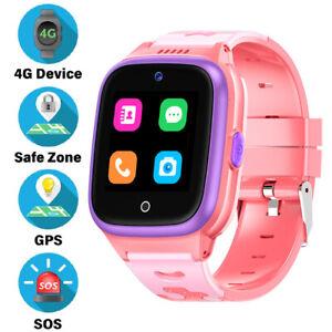 2021 Model 4G Kids Smart Watch Preinstalled SpeedTalk SIM Card GPS Locator Pink