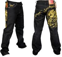 Mens Ed Hardy's Los Angeles Hunter Hawk Jeans All Sizes W30 W32 W34 W36
