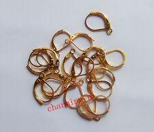 15pz ganci orecchini in ottone monachella chiusa  colore oro 10x15mm