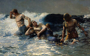 Undertow  by Winslow Homer  Giclee Canvas Print Repro