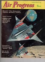 Air Progress Magazine Feb 1963 NASA L5  Russia Fighter, Copters, Bombers