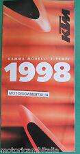 KTM MOTO 98 2 TEMPI DEPLIANT BROCHURE  PUBBLICITA PROSPEKT