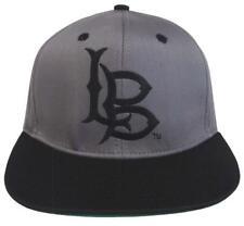 ecfbd062fc7a1 Cal State Long Beach Gorra Logo Retro Snapback Cap Hat 2 Tonos Gris Negro