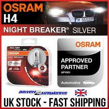 Osram H4 Night Breaker 2x Bombillas De Plata Para Dacia Sandero 1.5 dCi 05.10 -