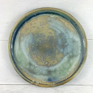 Plates Japanese Style Tableware Asian Handmade- Blue Crackle-Glaze Plate 10.5""