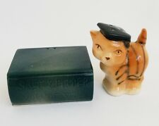 Vintage Japan Graduating Cat on a Book Salt Pepper Shakers Set