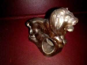 Vintage Bronze Lion Cigar/cigarette holder