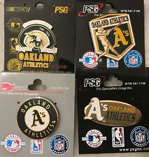 Set of 4 Oakland Athletics  Logo Collector Pins BLOWOUT PRICE