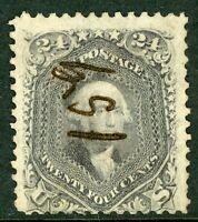 USA 1861 Washington 24¢ Grey Scott # 78b VFU J924 ⭐⭐⭐⭐⭐⭐
