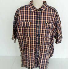 Rocawear Classic Mens 4XB 4XL XXXXL Short Sleeve Shirt Button Front Plaid