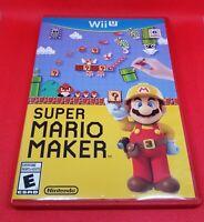 Nintendo Wii U Super Mario Maker Rated E No Manual