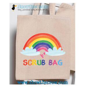 """Scrub Bag"" 100% Premium Cotton Tote Gift Clothing Bag Nurse Key Worker Scrubs"
