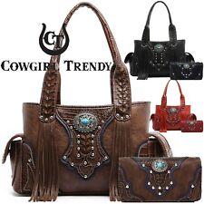 Western Cowgirl Concealed Carry Purse Fringe Handbags Women Shoulder Bag Wallet