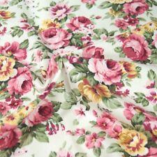 100% Cotton Poplin Fabric Rose & Hubble Peony Floral Garden Flowers