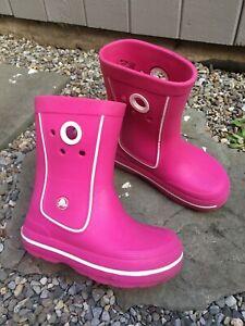 KIDS SIZE 12 / 13 UGG Rubber RAIN BOOTS Pink