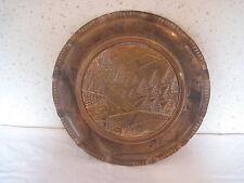"""Assiette déco en cuivre de 31,5 cm de diamètre 500g """" Montagne """""""