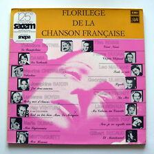 """Rare; Vinyle: """" FLORILEGE de la CHANSON FRANCAISE """" -  (1919 - 1961)"""