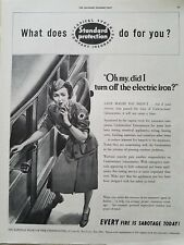 1942 standard protection insurance Red Cross nurse did I turn off iron ad