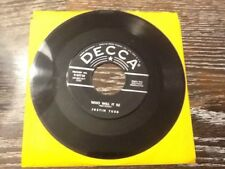 """Justin Tubb """"Pepper~Hot Baby/Who Will it Be"""" 45 rpm"""