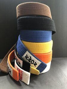 6 Martial Arts *Karate/Tae Kwon Do* Belts KWON KWON Club Line Black Yellow Blue