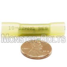 NSPA Krimpa-Seal Heat Shrink Sealed Crimp Butt wire Connectors Yellow 12-10 AWG