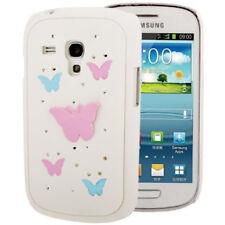 Hardcase Strass für Samsung i8190 Galaxy S3 Mini Butterfly weiß Case Hülle
